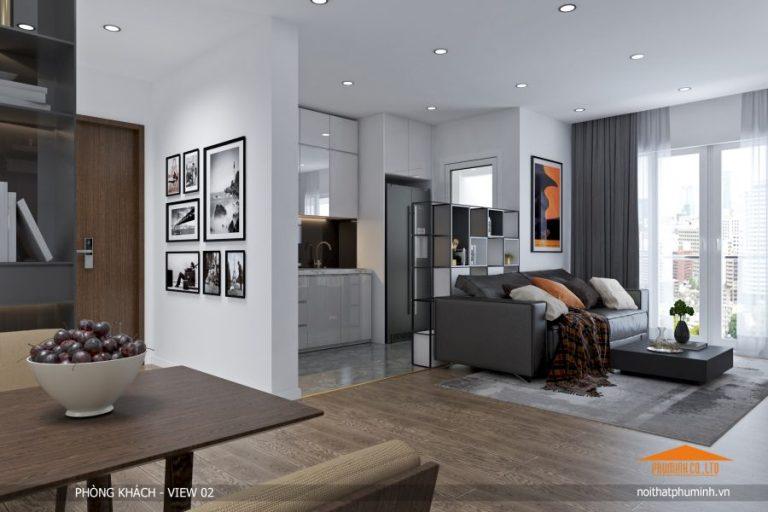 phong khach view 2 768x512 - Thiết kế nội thất chung cư