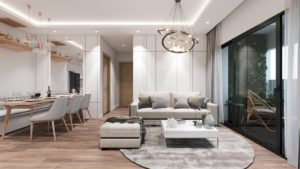 thiet ke noi that chung cu skylake19 300x169 - Thiết kế nội thất chung cư Vinhome Skylake tone trắng nhẹ nhàng